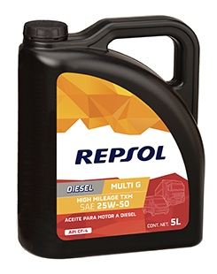 Repsol Diesel High Mileage 25w50